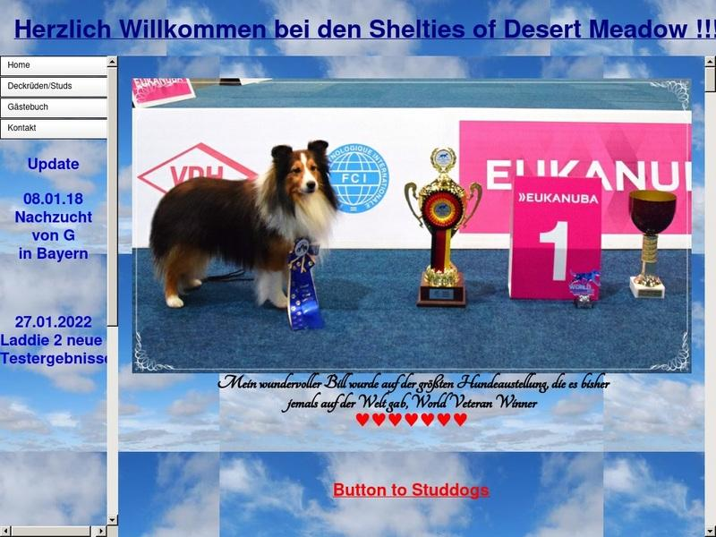 Screenshot von http://www.shelties-of-desert-meadow.de/